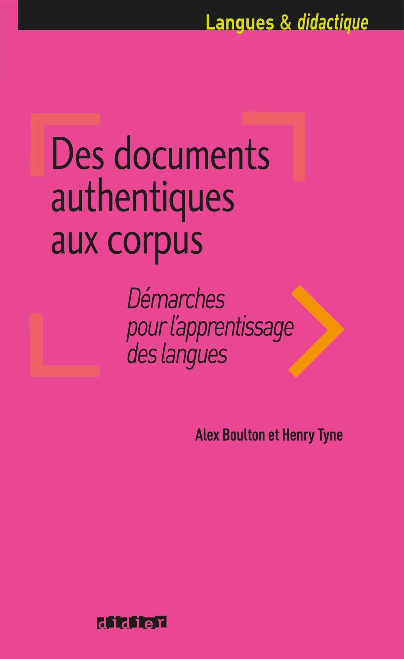 DES DOCUMENTS AUTHENTIQUES AUX CORPUS - LIVRE