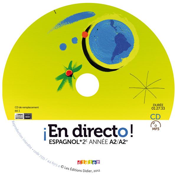 EN DIRECTO 2E ANNEE - CD ELEVE DE REMPLACEMENT