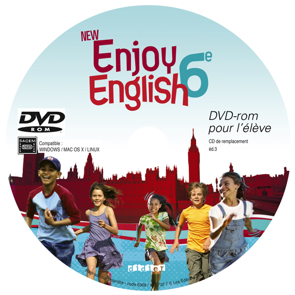 NEW ENJOY ENGLISH 6E - PACK 10 DVD-ROM ELEVE