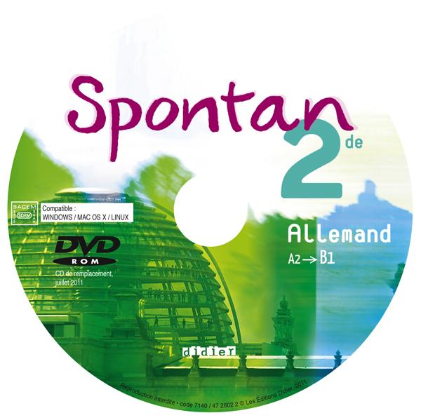 SPONTAN 2DE - A2/B1 - DVD-ROM MP4 ELEVE DE REMPLACEMENT