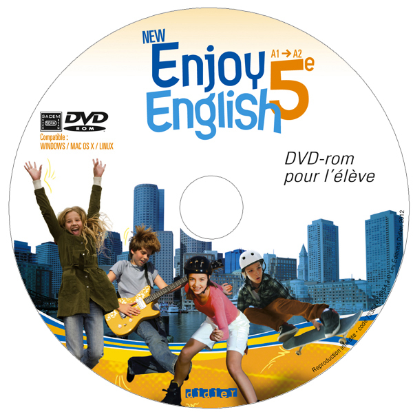 NEW ENJOY ENGLISH 5E - PACK 10 DVD-ROM ELEVE DE REMPLACEMENT