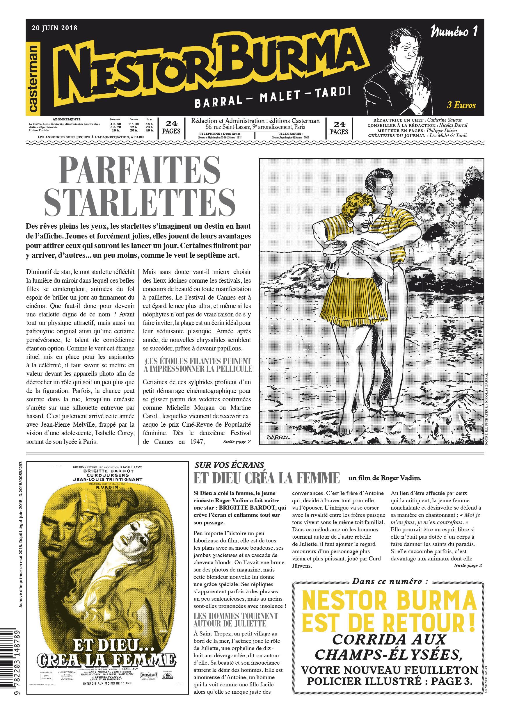 NESTOR BURMA CORRIDA AUX CHAMPS ELYSEES-JOURNAL 1