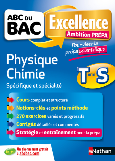 ABC EXCELLENCE - AMBITION PREPA - PHYSIQUE CHIMIE TERMINALE S - PREPA SCIENTIFIQUE