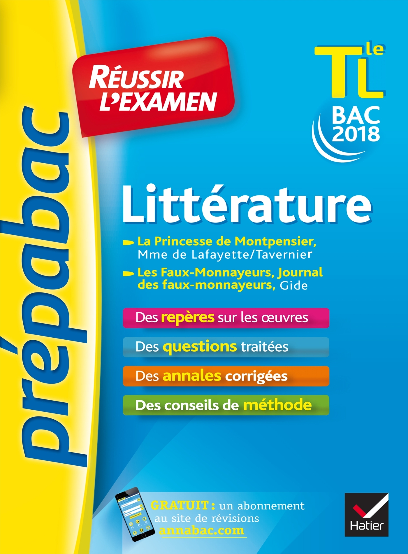 LITTERATURE TLE L BAC 2018