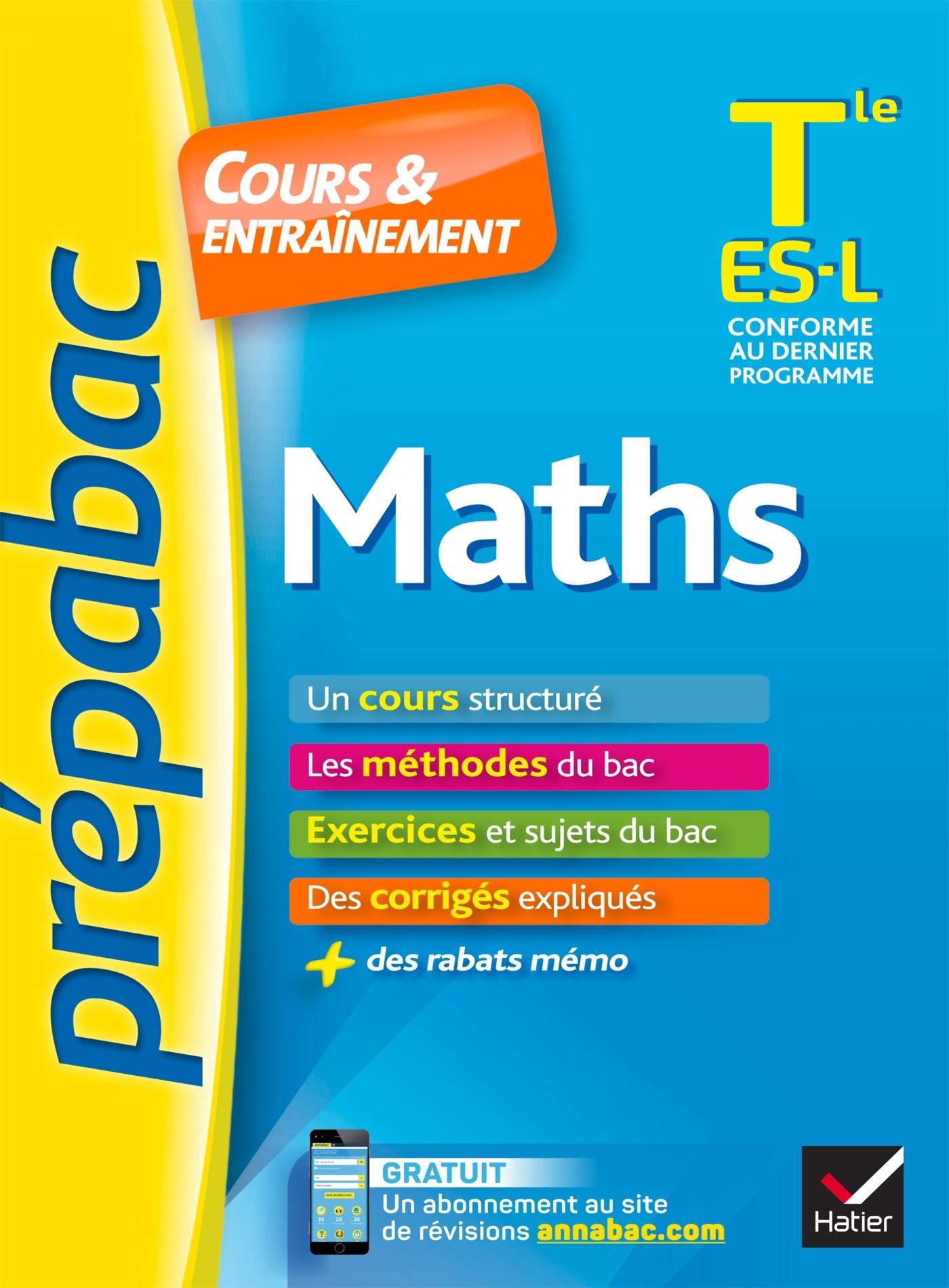 MATHS TLE ES, L - PREPABAC COURS & ENTRAINEMENT