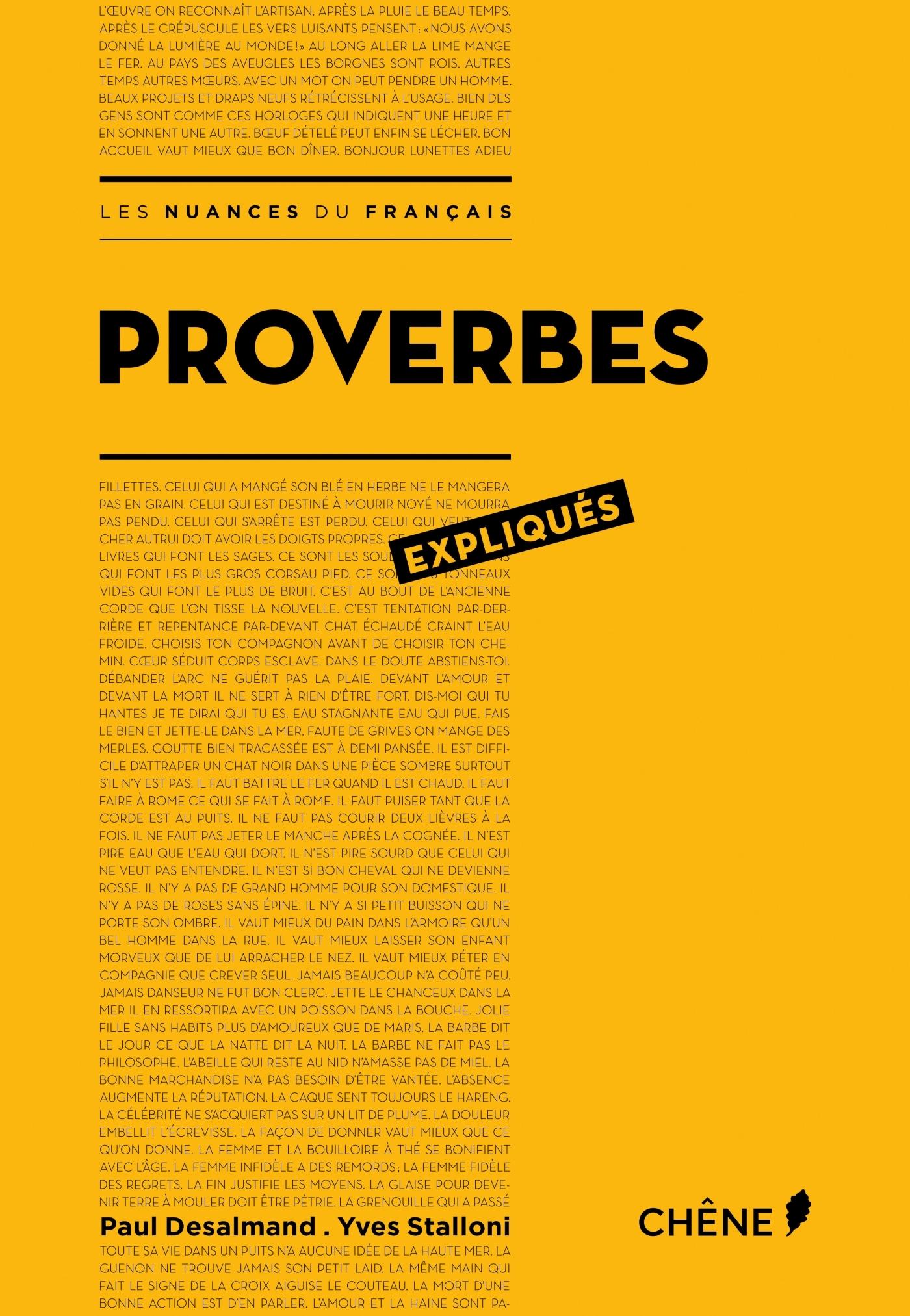 PROVERBES EXPLIQUES