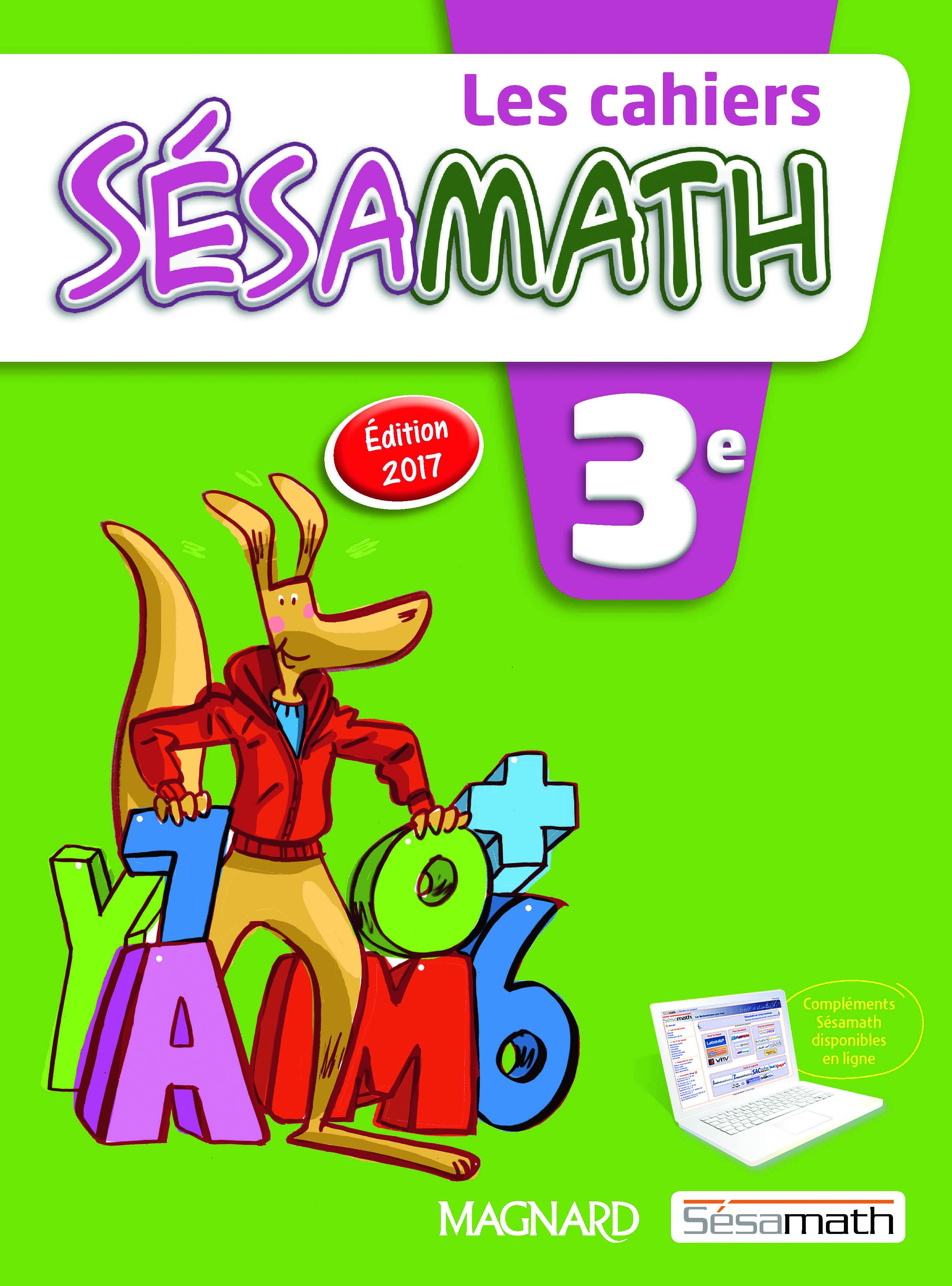 2017 CAHIER SESAMATH 3E ELEVE