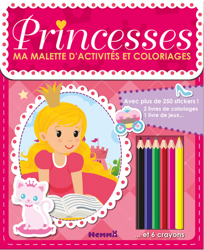 MA MALLETTE D'ACTIVITES ET COLORIAGES PRINCESSES