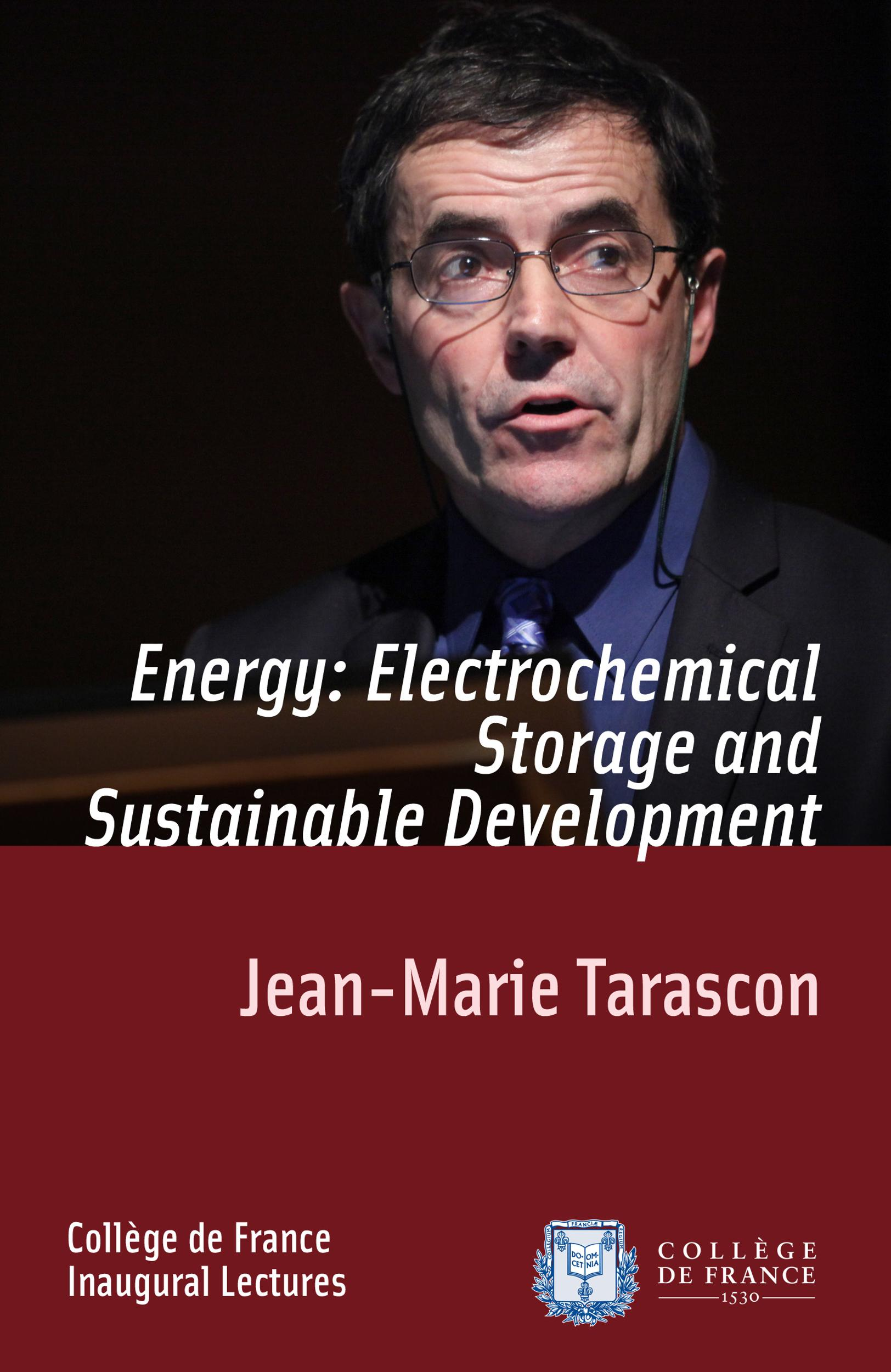 Energy: Electrochemical Storage and Sustainable Development, INAUGURAL LECTURE DELIVERED ON THURSDAY 9DECEMBER2010