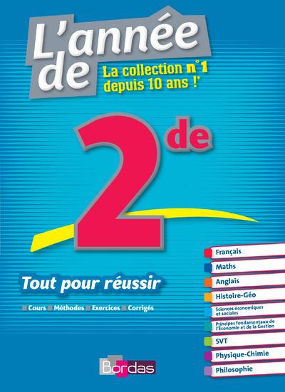 L'ANNEE DE 2DE - TOUT POUR REUSSIR