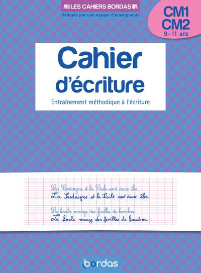 CAHIER D'ECRITURE CM1/CM2