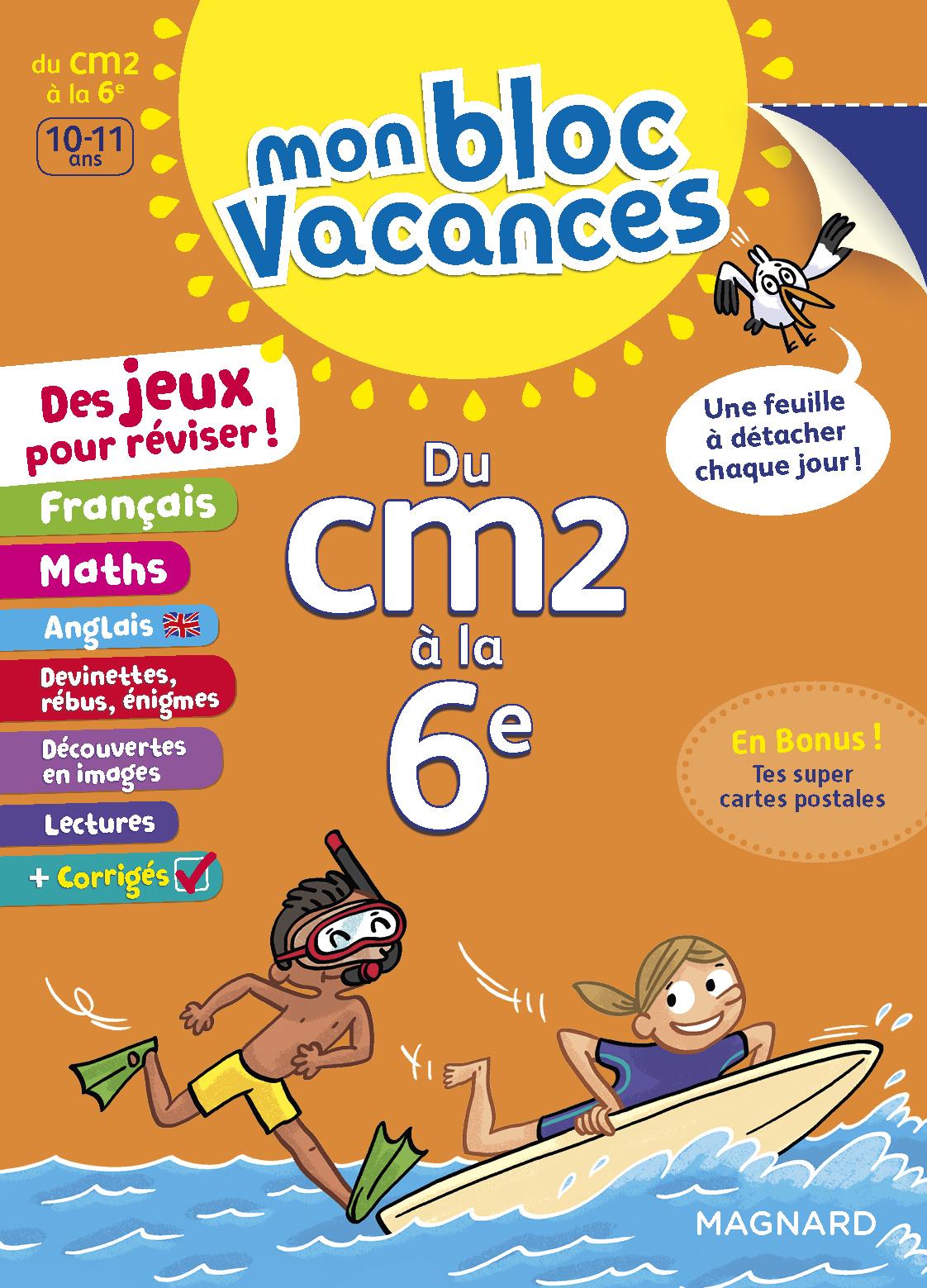 BLOC VACANCES CM2-6E (MON)