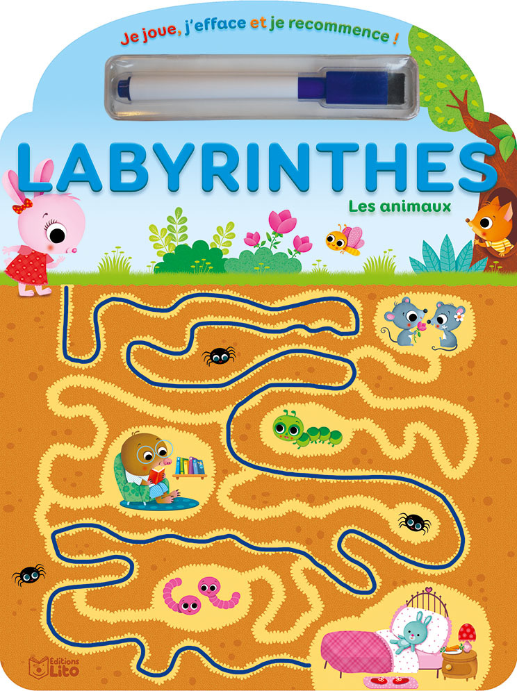 JE JOUE LABYRINTHES ANIMAUX