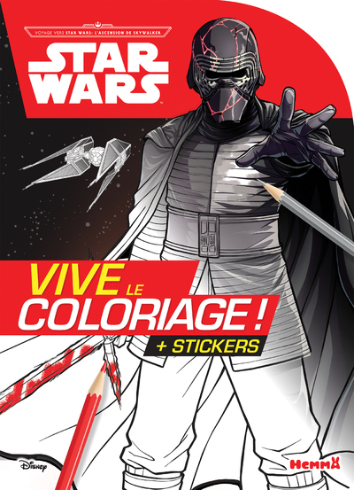 DISNEY STAR WARS VOYAGE VERS SW : L´ASCENSION DE SKYWALKER - VIVE LE COLORIAGE ! + STICKERS