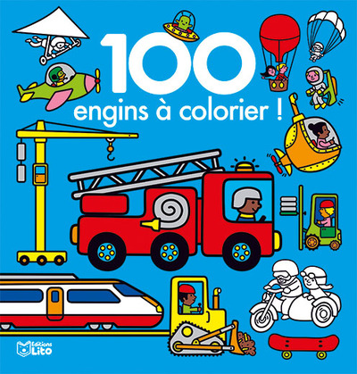 100 ENGINS A COLORIER