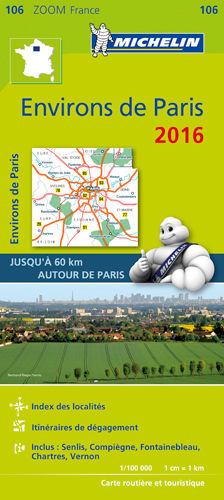 106 CARTE ZOOM 106 ENVIRONS DE PARIS 2016