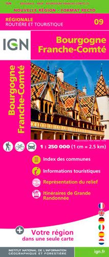 09 BOURGOGNE FRANCHE COMTE  2018 1/250 000
