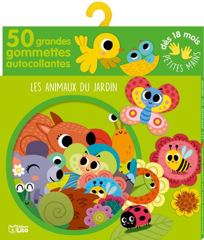 50 GRANDES GOMMETTES PETITES MAINS - ANIMAUX DU JARDIN