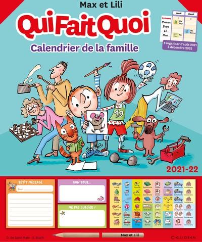 CALENDRIER DE LA FAMILLE MAX ET LILI QUI FAIT QUOI - 2021-22