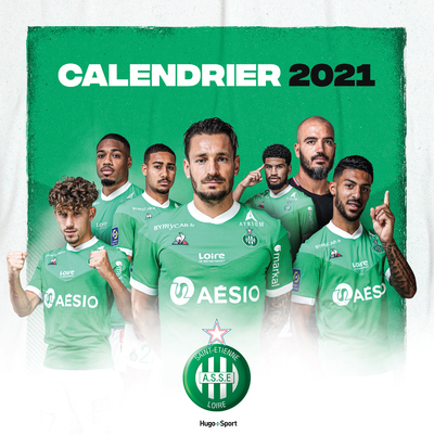 CALENDRIER MURAL SAINT ETIENNE 2021