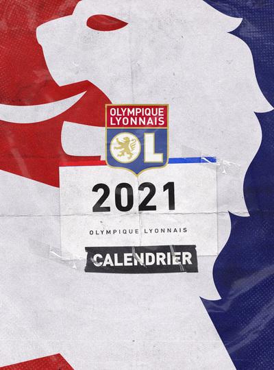 CALENDRIER MURAL OLYMPIQUE LYONNAIS 2021