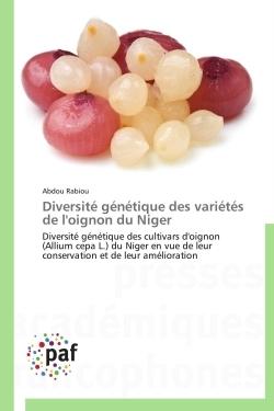 DIVERSITE GENETIQUE DES VARIETES DE L'OIGNON DU NIGER