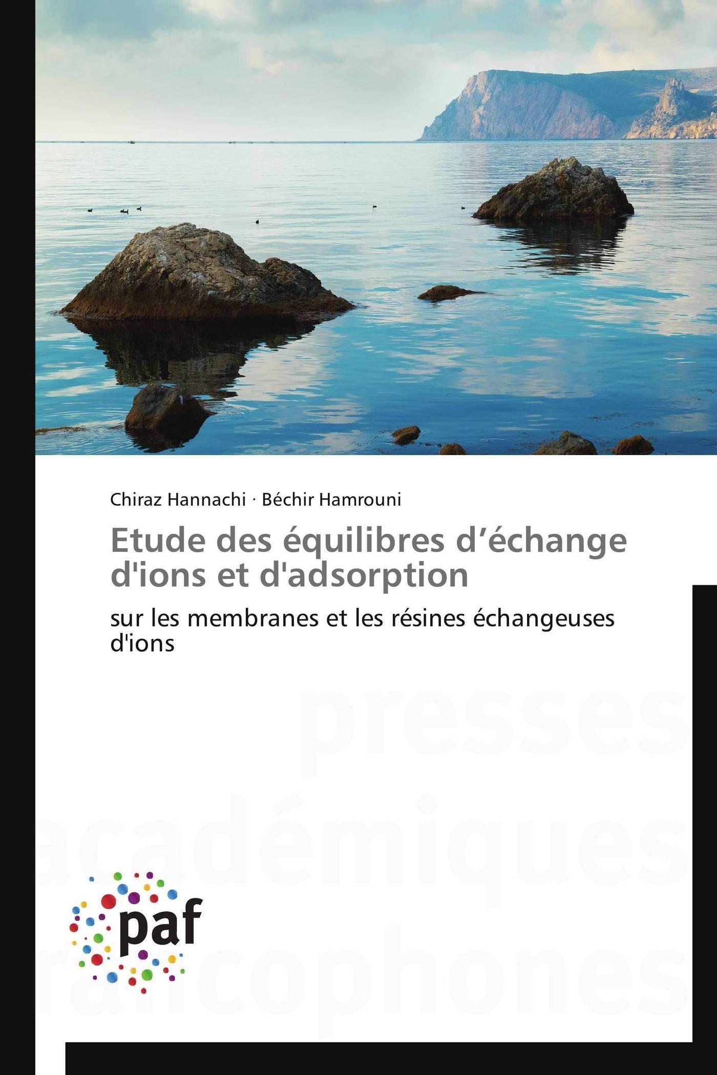 ETUDE DES EQUILIBRES D ECHANGE D'IONS ET D'ADSORPTION
