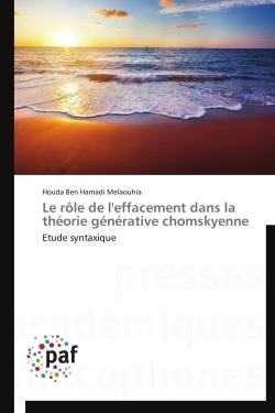 LE ROLE DE L'EFFACEMENT DANS LA THEORIE GENERATIVE CHOMSKYENNE