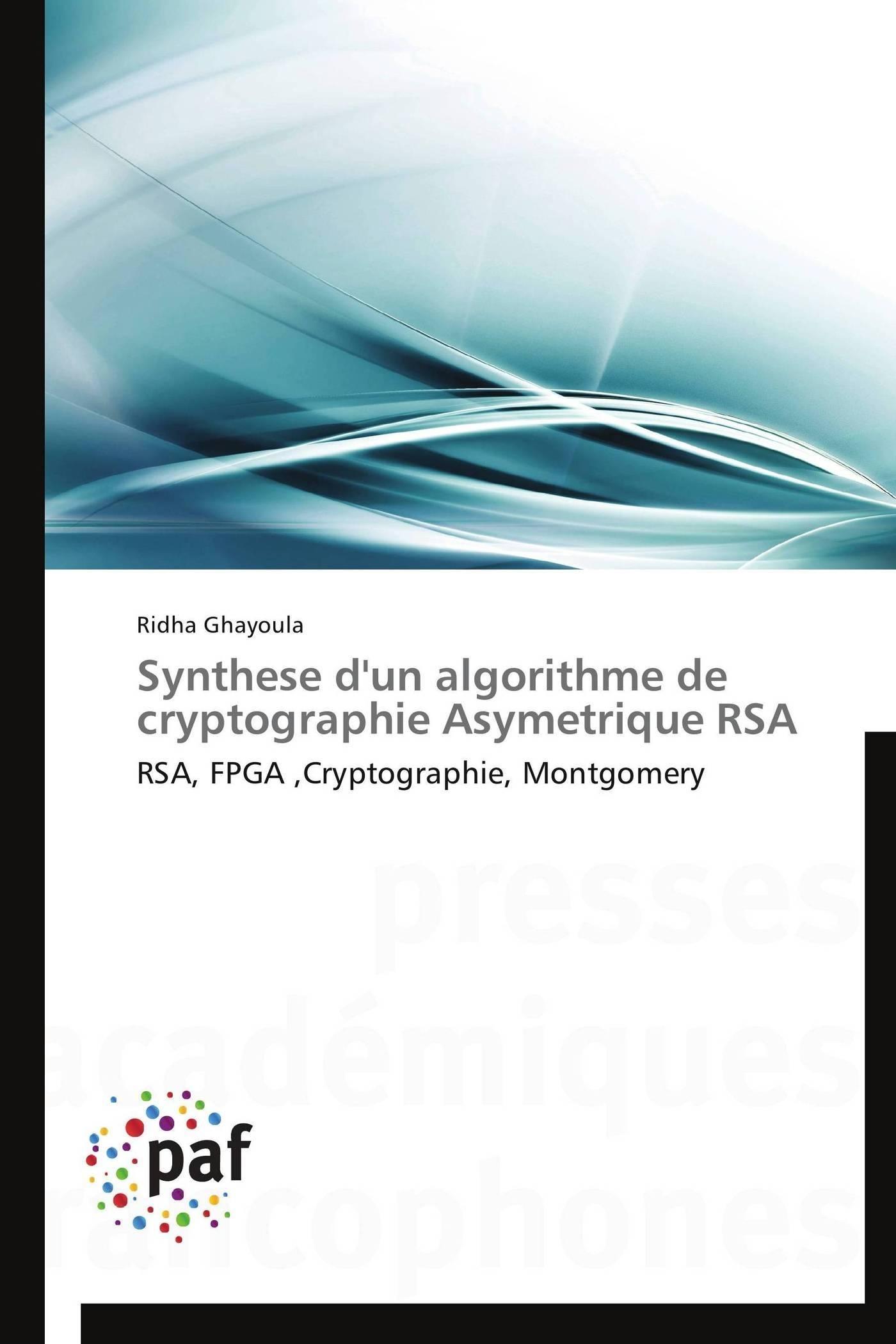 SYNTHESE D'UN ALGORITHME DE CRYPTOGRAPHIE ASYMETRIQUE RSA