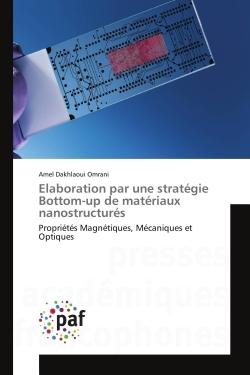 ELABORATION PAR UNE STRATEGIE BOTTOM-UP DE MATERIAUX NANOSTRUCTURES