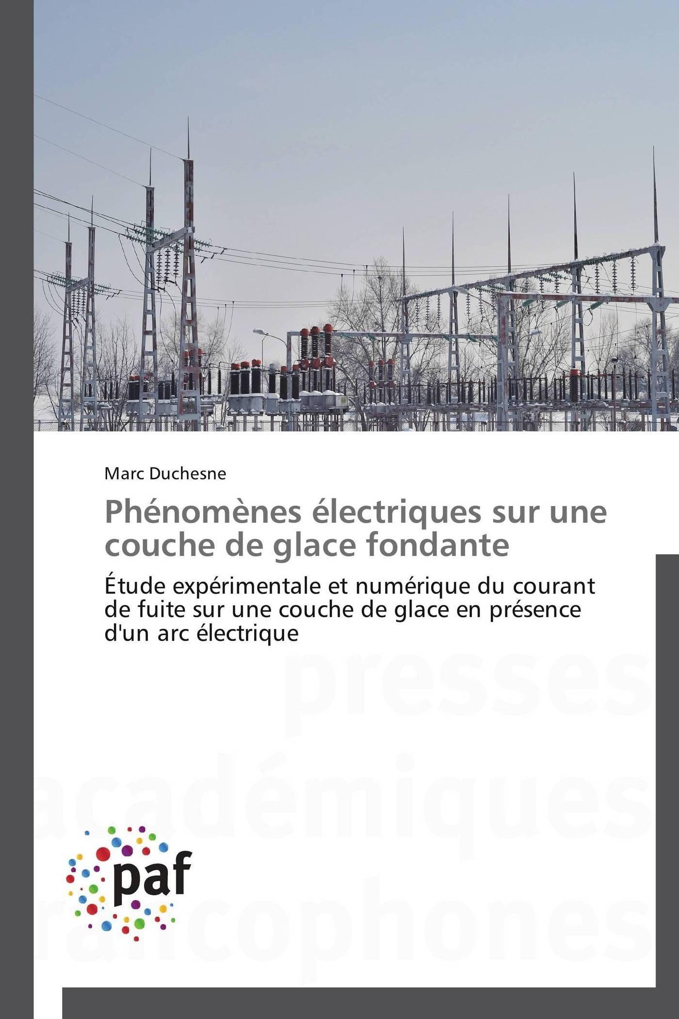 PHENOMENES ELECTRIQUES SUR UNE COUCHE DE GLACE FONDANTE