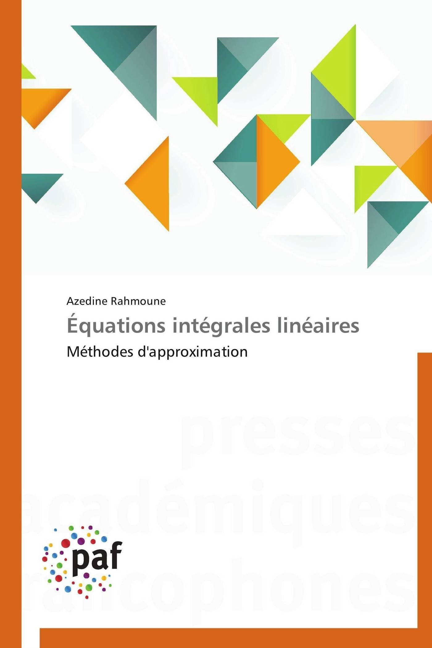EQUATIONS INTEGRALES LINEAIRES