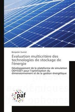 EVALUATION MULTICRITERE DES TECHNOLOGIES DE STOCKAGE DE L'ENERGIE