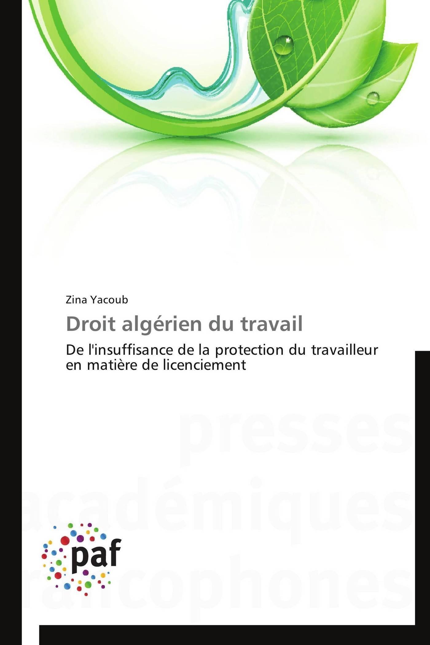 DROIT ALGERIEN DU TRAVAIL