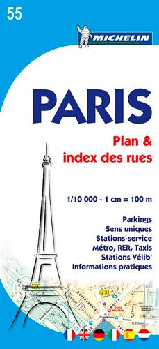PARIS - PLAN ET REPERTOIRE DES RUES