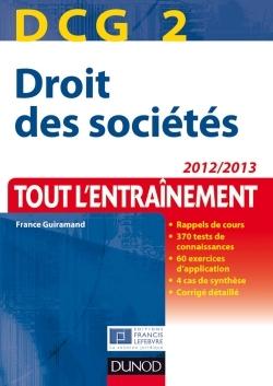 DCG 2 - DROIT DES SOCIETES - 2012/2013 - TOUT L'ENTRAINEMENT