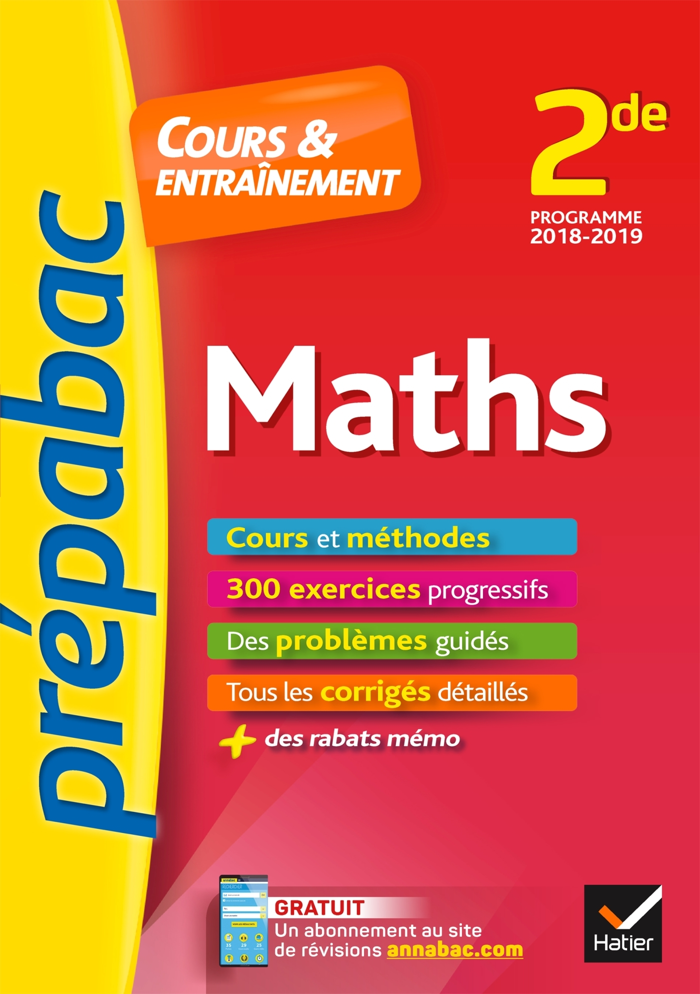 30 - MATHS 2DE - PREPABAC COURS & ENTRAINEMENT - COURS, METHODES ET EXERCICES PROGRESSIFS (SECONDE)