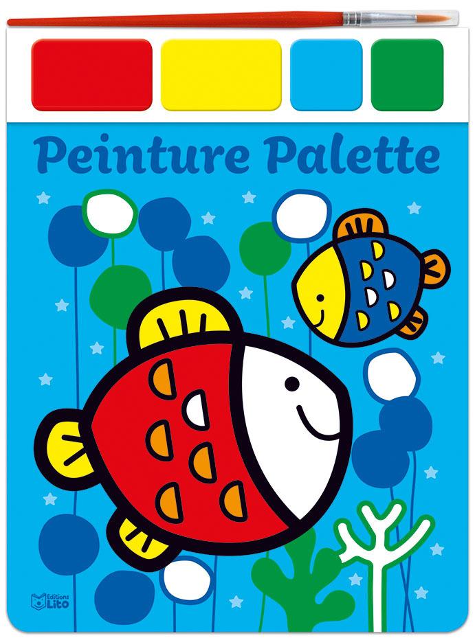 PEINTURE PALETTE-LES POISSONS