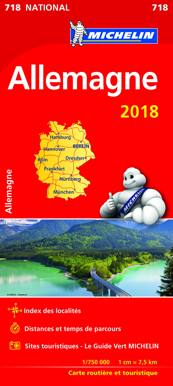 CARTE NATIONALE 718 ALLEMAGNE 2018