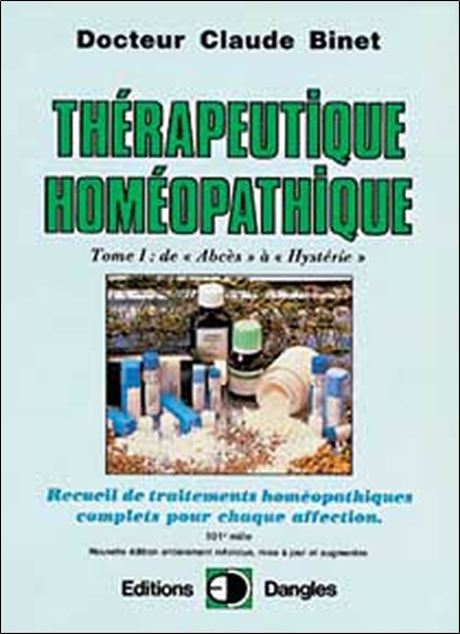 THERAPEUTIQUE HOMEOPATHIQUE T.1