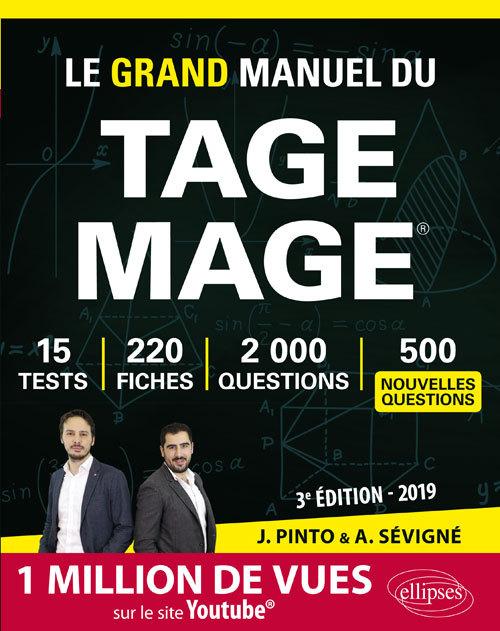 LE GRAND MANUEL DU TAGE MAGE 220 FICHES DE COURS 15 TESTS 2000 QUESTIONS + CORRIGES VIDEO 3E.ED.2019