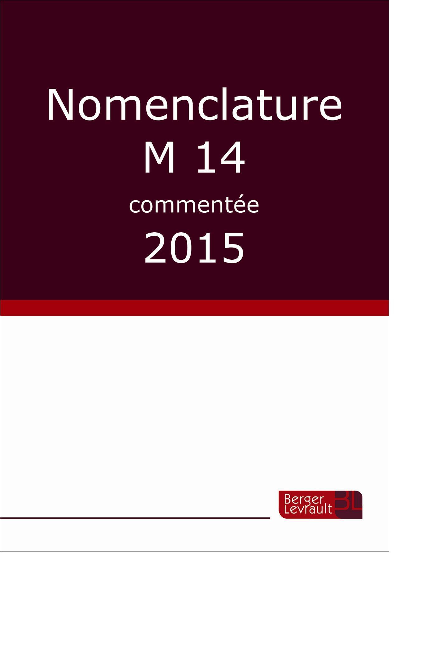NOMENCLATURE M14 COMMENTEE 2015