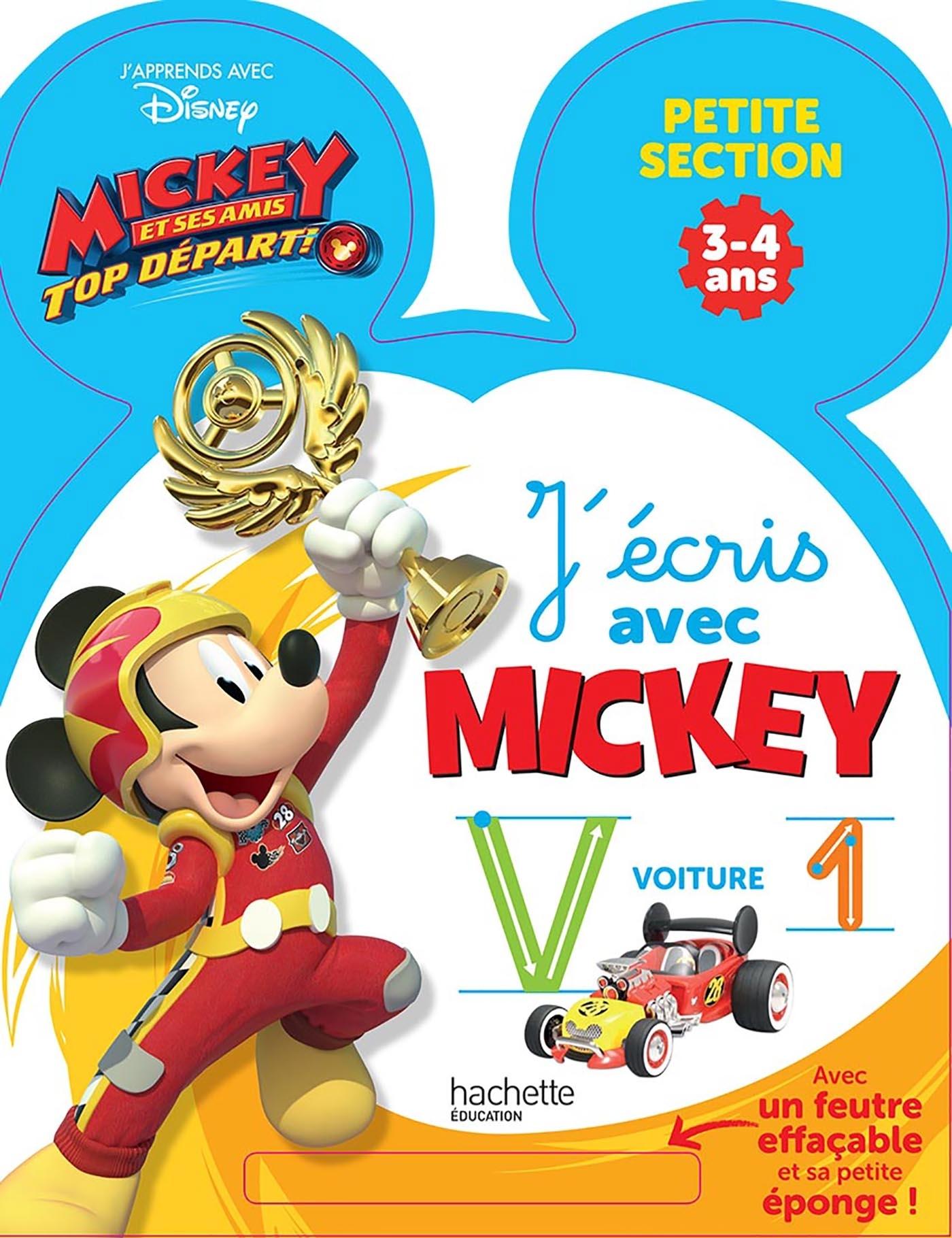 ARDOISE J'ECRIS AVEC MICKEY TOP DEPART PS