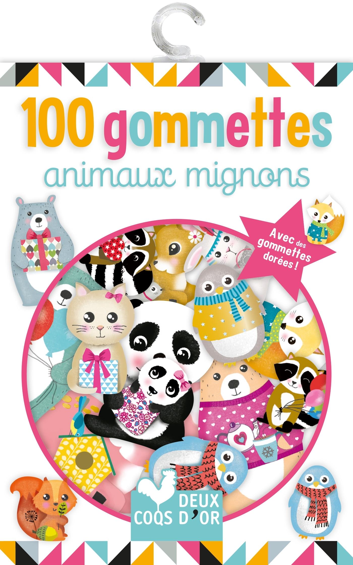 100 GOMMETTES - ANIMAUX MIGNONS
