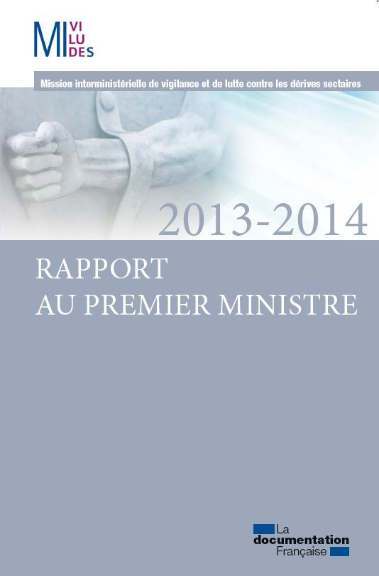 RAPPORT AU PREMIER MINISTRE 2013-2014