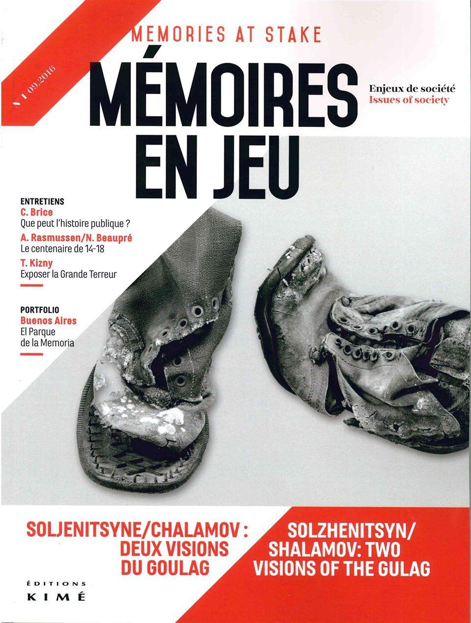 MEMOIRES EN JEU N1