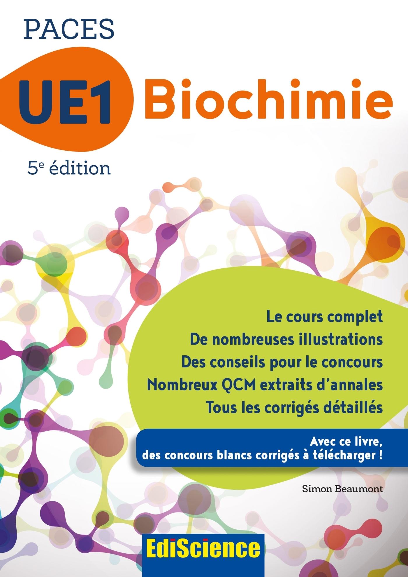 PACES UE1 BIOCHIMIE - 5E ED.