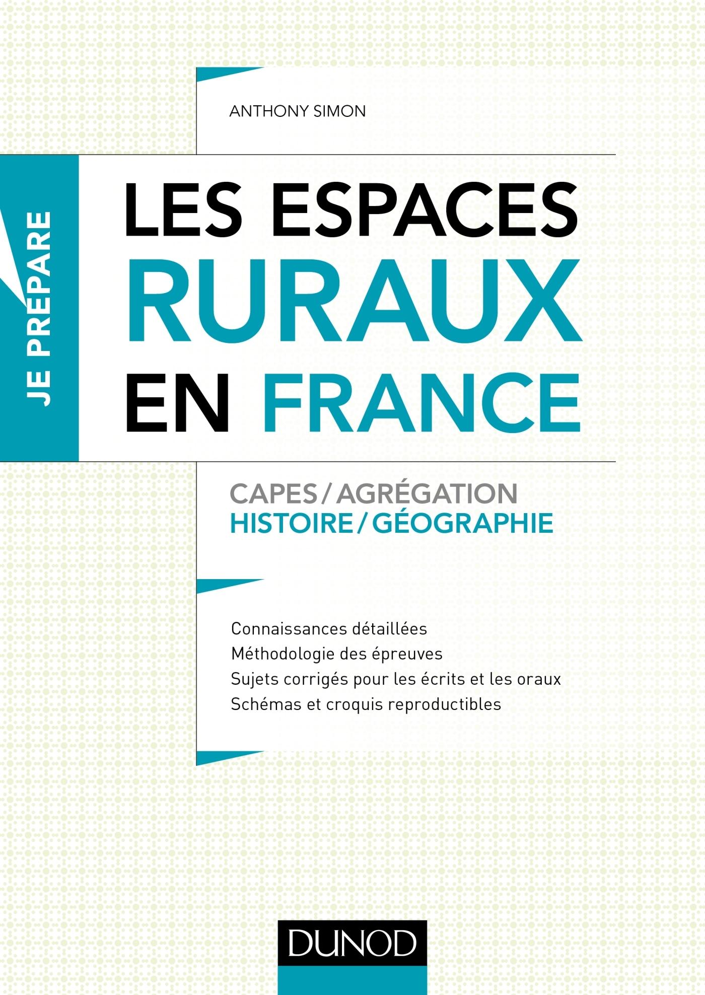 LES ESPACES RURAUX EN FRANCE - CAPES ET AGREGATION - HISTOIRE-GEOGRAPHIE