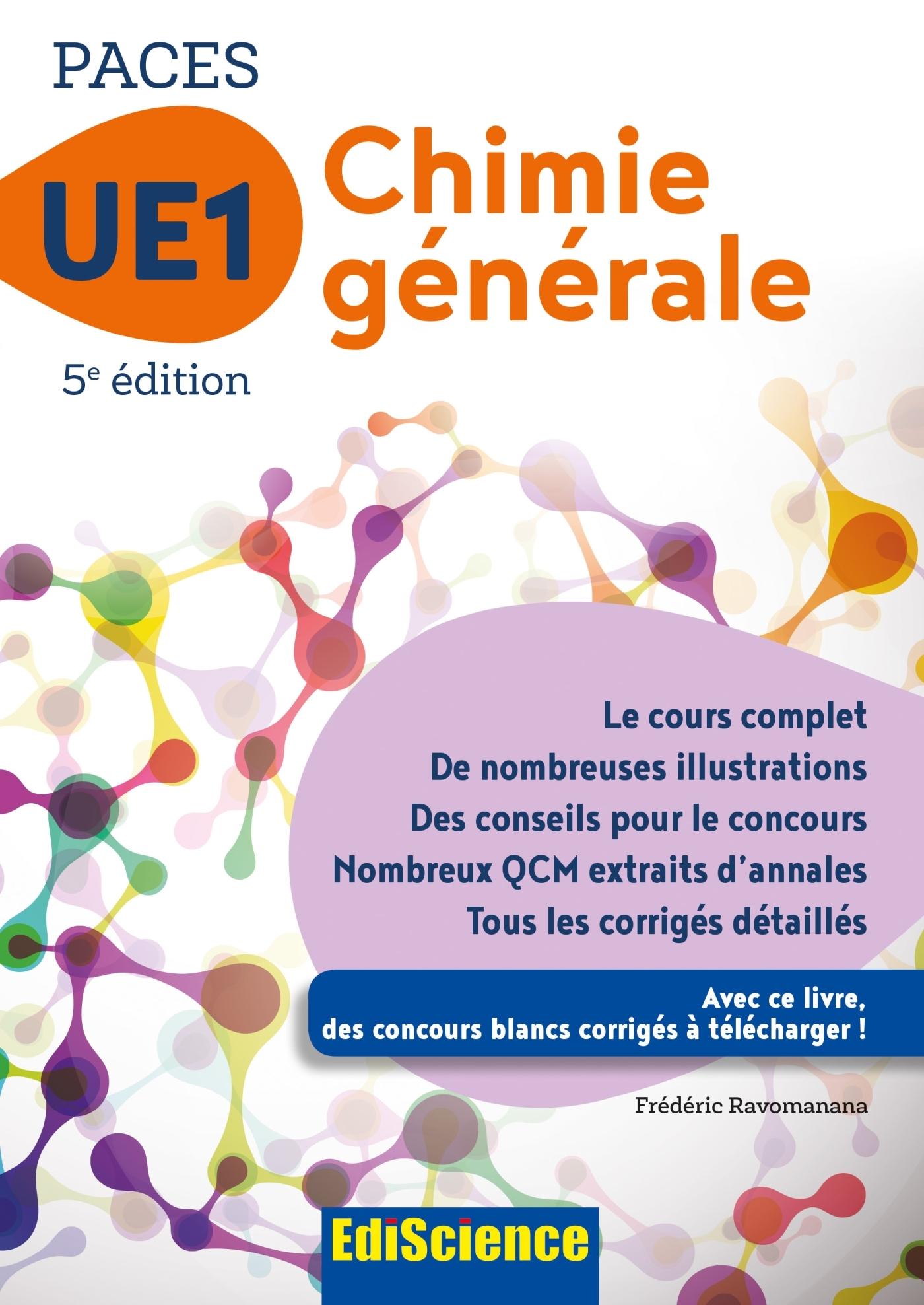 PACES UE1 CHIMIE GENERALE - 5E ED.