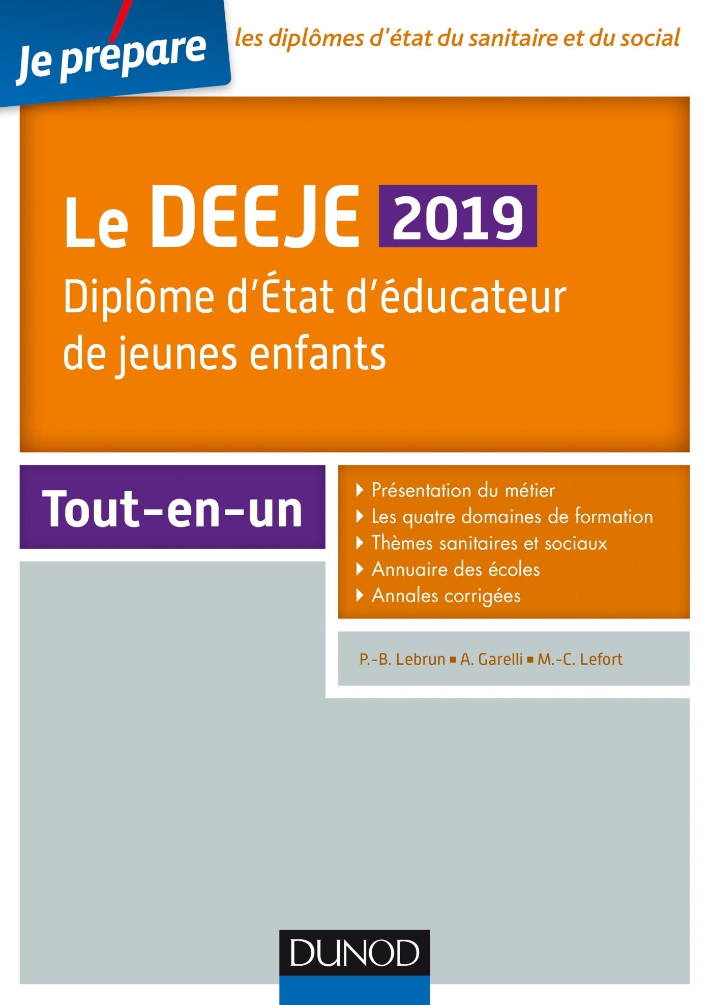 JE PREPARE - LE DEEJE 2019 - DIPLOME D'ETAT D'EDUCATEUR DE JEUNES ENFANTS - TOUT-EN-UN